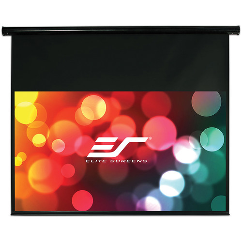 "Elite Screens ST120UWH-E14 58.9 x 104.5"" Starling Electric Wall/Ceiling Screen (Black Case, 14"" Top Drop)"