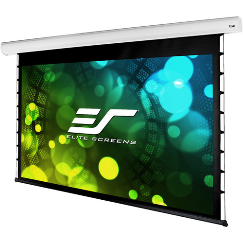 """Elite Screens Starling Tab-Tension 2, 120"""" 16:9, 12"""" Drop, Tensioned Electric Motorized Projector Screen, Stt120Xw"""