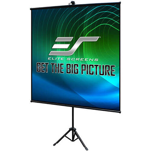 """Elite Screens Tripod Lite   50x50"""" Portable Indoor Projector Screen With Foldable Stand/ Bag"""