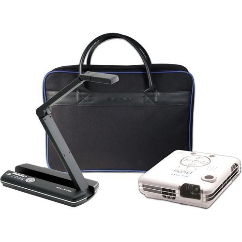 Elmo POG Bundle: MO-1 Black / BOXi MP-350 Projector / & Soft Case