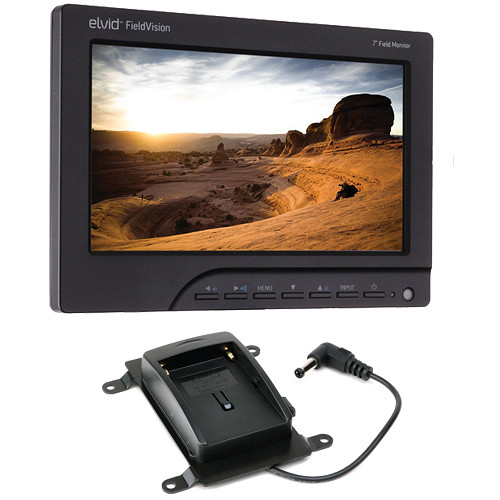 "Elvid FieldVision 7"" On-Camera Monitor Kit with BP-511A and L & M Series Battery Plates"