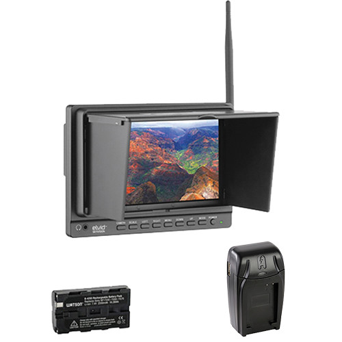 """Elvid SkyVision 7"""" Wireless Aerial Imaging Monitor, Battery & Charger Kit"""