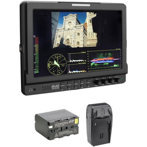 "Elvid FieldVision 10.1"" Pro LCD Monitor with Battery & Charger Kit"