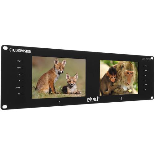 "Elvid StudioVision Dual 7"" Monitor Rackmount"