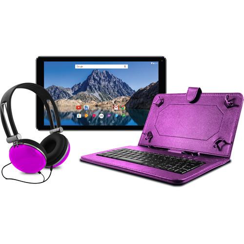 "Ematic 10.1"" EGQ236 16GB Tablet Bundle (Purple)"