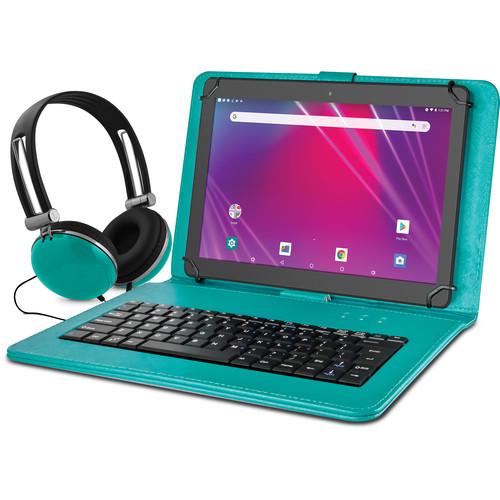 "Ematic 10.1"" EGQ239BD 16GB Tablet Bundle (Wi-Fi, Teal)"