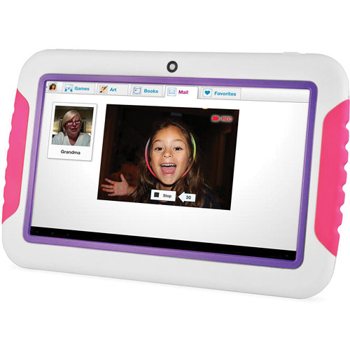 "Ematic 4GB FunTab 2 Multi-Touch 7"" Tablet for Kids (Pink & Purple)"