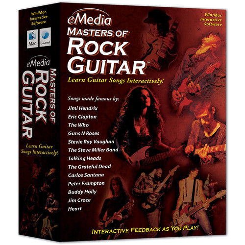 eMedia Music Masters of Rock Guitar (Electronic Download, Mac)