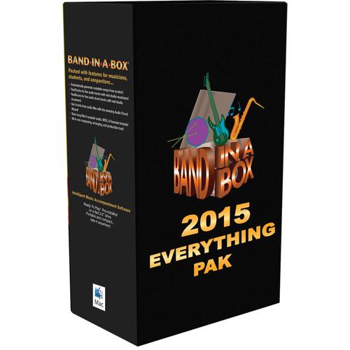 eMedia Music PG Music Band-in-a-Box 2015 EverythingPAK - Backing Band / Accompaniment Software (Mac)