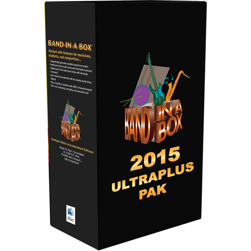 eMedia Music PG Music Band-in-a-Box 2015 UltraPlusPAK - Backing Band / Accompaniment Software (Mac)