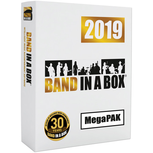 PG Music Band-in-a-Box 2019 MegaPAK - Automatic Accompaniment Software (Windows, Download)