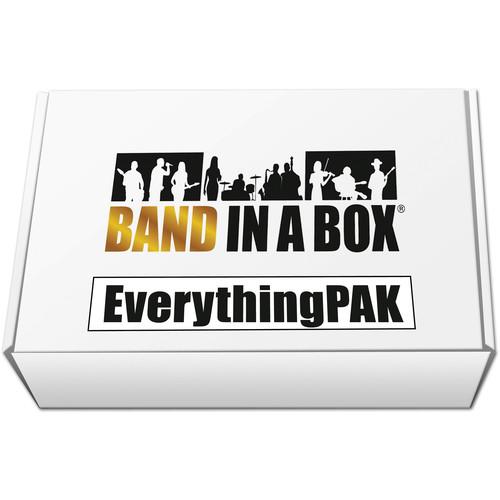 PG Music Band-in-a-Box 2017 EverythingPAK - Backing Band / Accompaniment Software (Mac, USB Hard Drive)