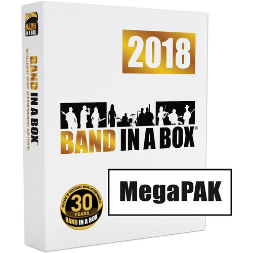 eMedia Music Band-in-a-Box 2018 MegaPAK - Backing Band / Accompaniment Software (Windows, Download)