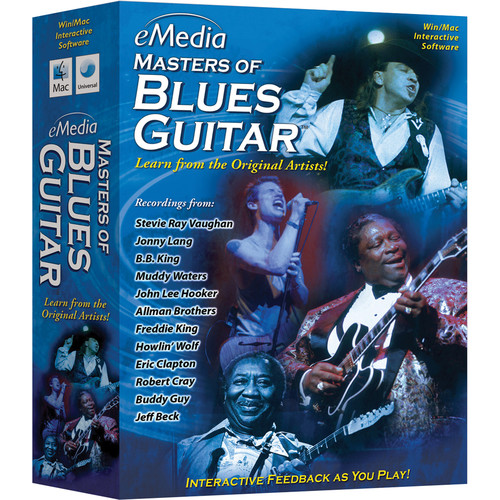 eMedia Music Masters of Blues Guitar - Blues Guitar Instruction for Mac (Download)