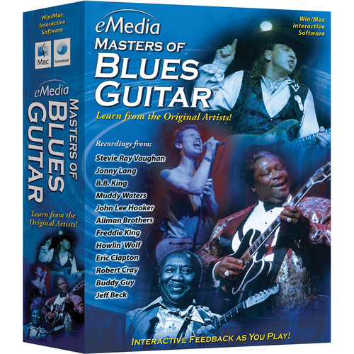eMedia Music Masters of Blues Guitar - Blues Guitar Instruction for Windows (Download)