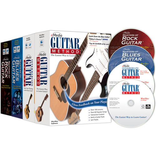 eMedia Music Guitar Collection - Complete Guitar Course with Extra Songs (4 Volume Set)