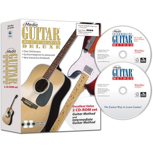 eMedia Music Guitar Method Deluxe - Beginning and Intermediate Guitar Lessons for Mac (Download)