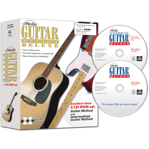 eMedia Music Guitar Method Deluxe - Beginning and Intermediate Guitar Lessons for Windows (Download)