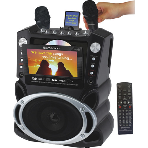 "Karaoke USA GF829 Karaoke System with 7"" TFT Color Screen & Record Function"