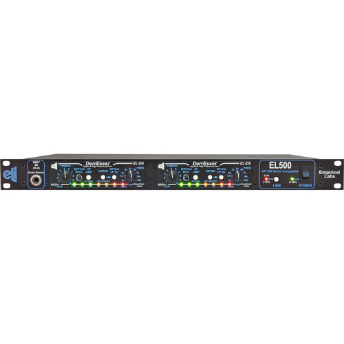 EMPIRICAL LABS DerrEsser EL-DS DUO 500-Series Dynamic High-Frequency Fixer (Horizontal Pair in EL500 Rack)