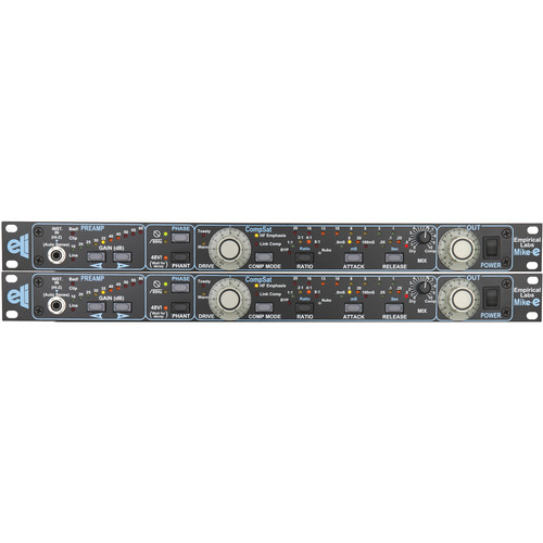 EMPIRICAL LABS Twin Pak - Dual Channel - EL-9 Mike-e Microphone Preamp and Compressor/Saturator