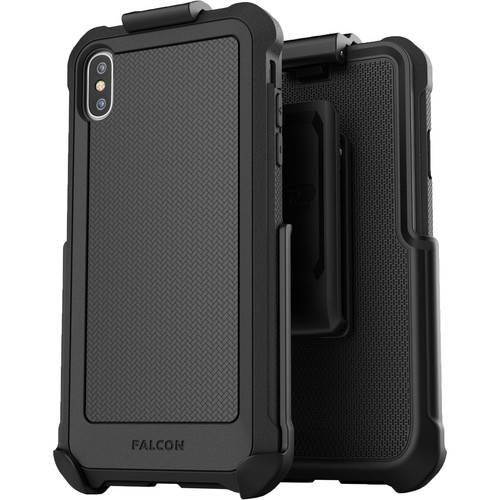 Encased Falcon Case with Belt Clip Holster for iPhone XS Max (Black)