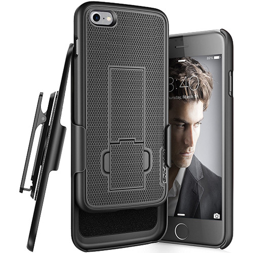 Encased DuraClip Series Slim Fit Case with Belt Clip Holster for iPhone 8