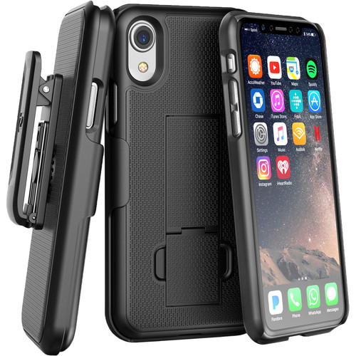 Encased DuraClip Series Slim Fit Case with Belt Clip Holster for iPhone XR