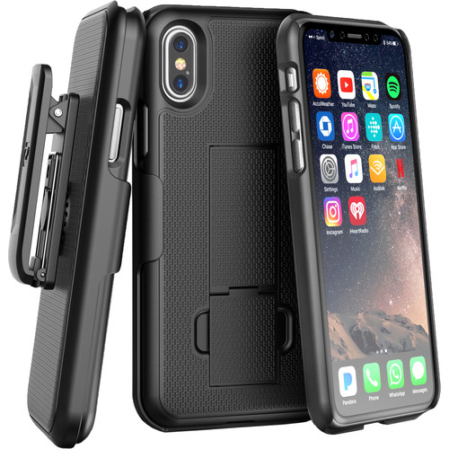 Encased DuraClip Series Slim Fit Case with Belt Clip Holster for iPhone XS Max