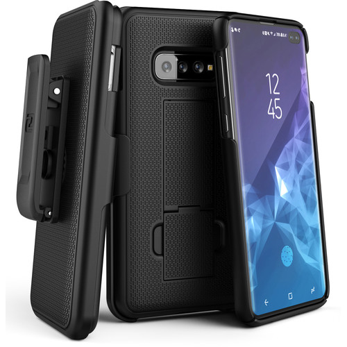 Encased DuraClip Series Slim Fit Case with Belt Clip Holster for Samsung Galaxy S10+
