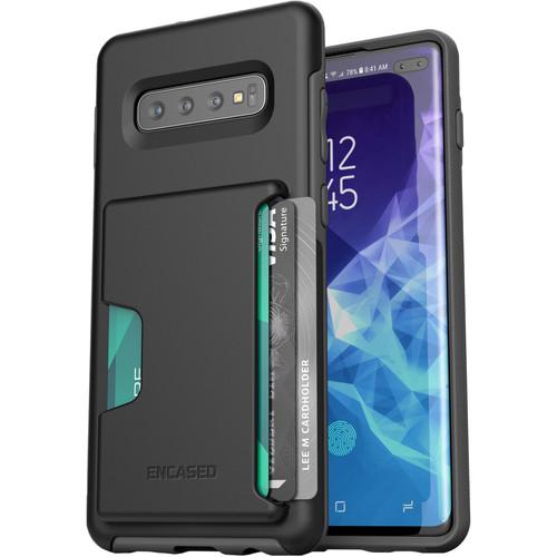 Encased Phantom Ultra Slim Case with Card Holder for Samsung Galaxy S10+ (Black)