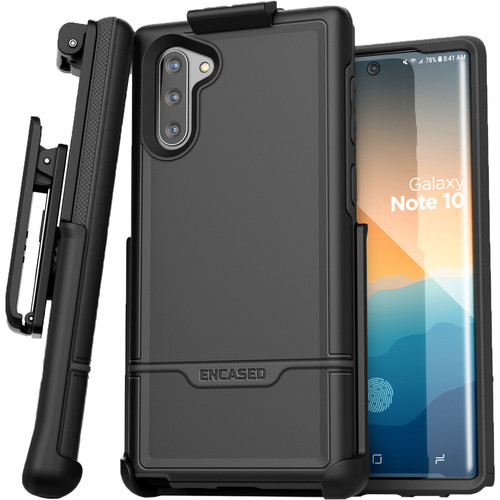 Encased Rebel Series Case with Belt Clip Holster for Samsung Galaxy Note10