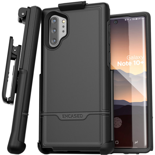Encased Rebel Series Case with Belt Clip Holster for Samsung Galaxy Note10+