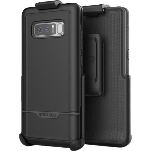 Encased Rebel Case with Belt Clip Holster for Samsung Galaxy Note8 (Black)