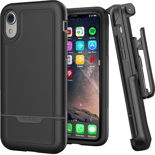 Encased Rebel Series Case with Belt Clip Holster for iPhone XR