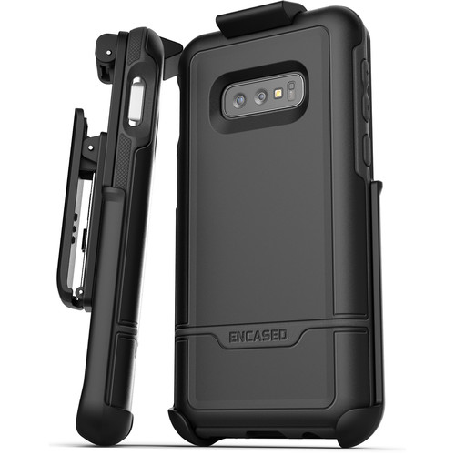 Encased Rebel Series Case with Belt Clip Holster for Samsung Galaxy S10e