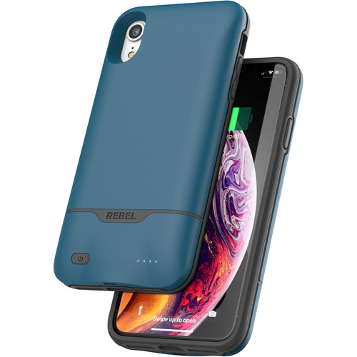 Encased Rebel Power Battery Case for iPhone XR (Blue)