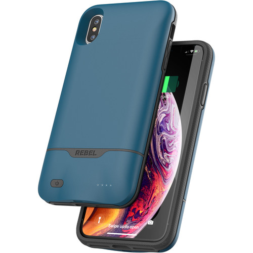Encased Rebel Power Battery Case for iPhone XS Max (Blue)