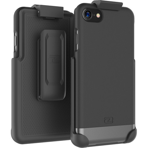 Encased SlimShield Series Case with Belt Clip Holster for iPhone 7 (Black)