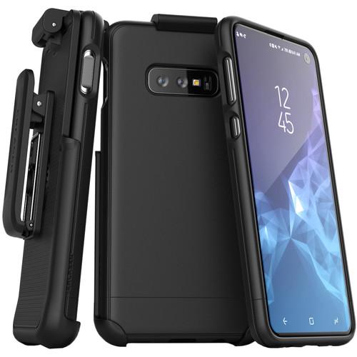 Encased SlimShield Belt Clip Holster Case for Samsung Galaxy S10e (Black)
