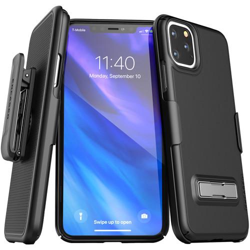 Encased Slimline Case with Belt Clip Holster for iPhone 11 Pro (Black)