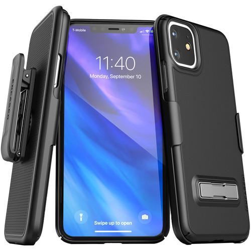 Encased Slimline Case with Belt Clip Holster for iPhone 11 (Black)