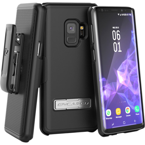 Encased Slimline Case with Belt Clip Holster for Samsung Galaxy S9