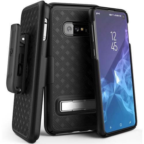 Encased Slimline Case with Belt Clip Holster for Samsung Galaxy S10e (Black)