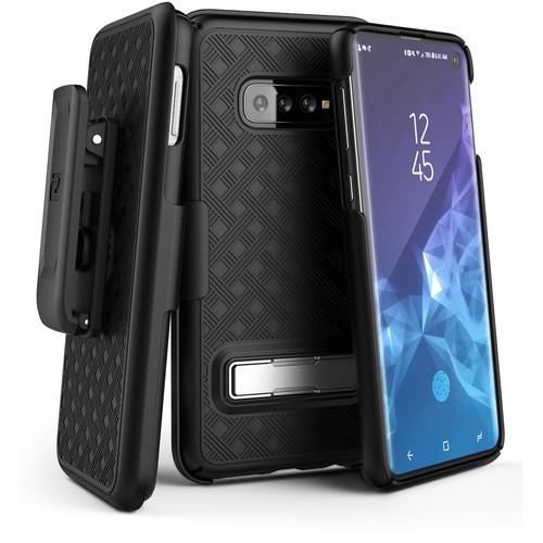 Encased Slimline Case with Belt Clip Holster for Samsung Galaxy S10 (Black)