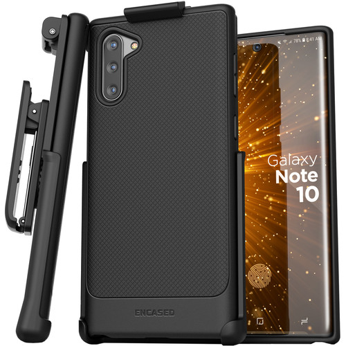 Encased Thin Armor Series Case with Belt Clip Holster for Samsung Galaxy Note10 (Black)