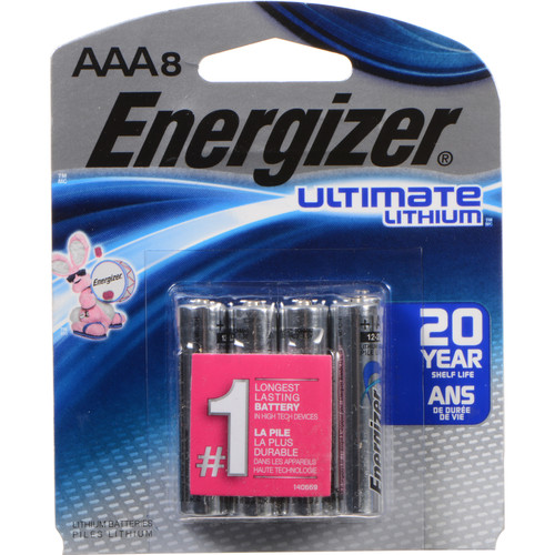Energizer Ultimate Lithium AAA Batteries (1.5V, 1200mAh, 8-Pack)