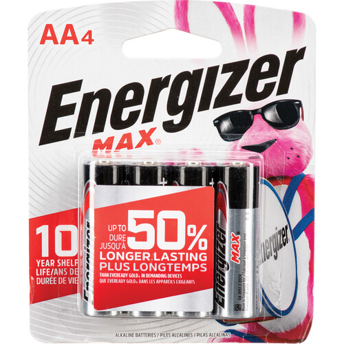 Energizer Energizer Max AA Alkaline Batteries (4-Pack, 1.5V)