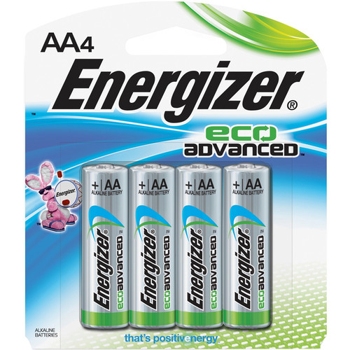 Energizer EcoAdvanced AA Alkaline Batteries (2750mAh, 4-Pack)