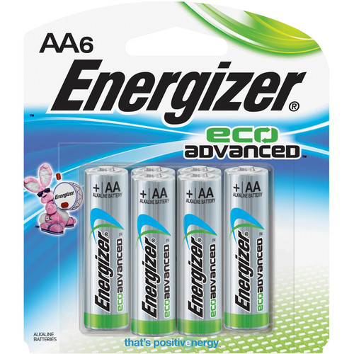 Energizer EcoAdvanced AA Alkaline Batteries (2750mAh, 6-Pack)